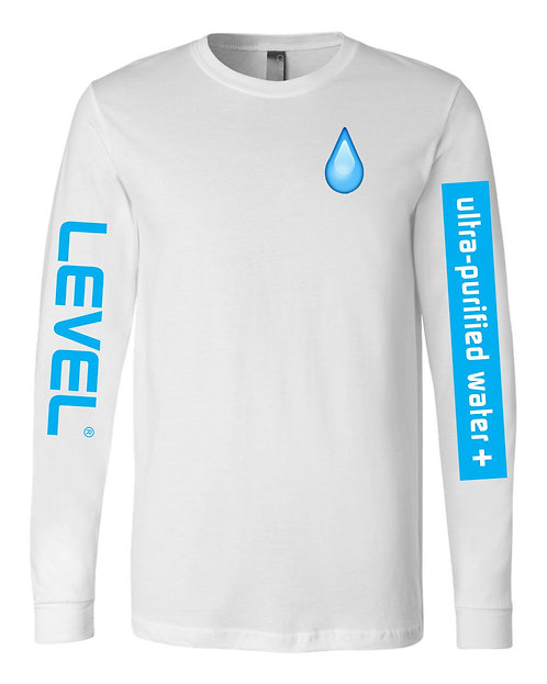 Level Water Drip Long Sleeve T-Shirt