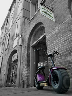 Purple Electric Scooter at NOLA Cycles