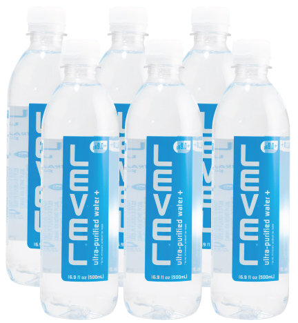Level Ultra Purified Water+ 6 Pack (16.9oz)