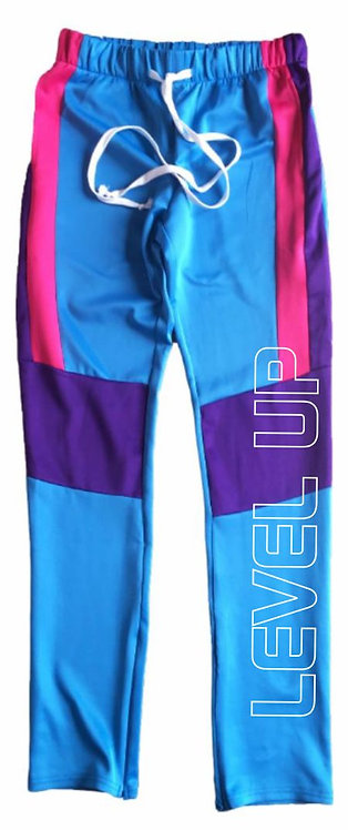 Level Water Color Block Track Pants Level Up