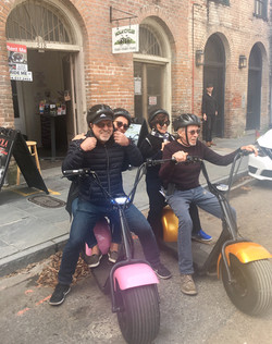 Tourists on Electric Cycles