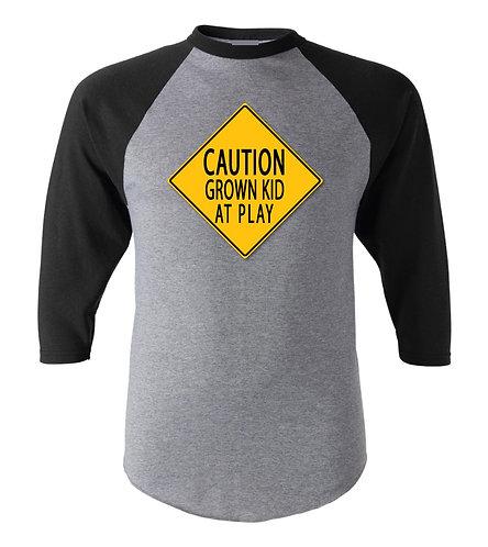 Caution Grown Kid At Play Baseball Jersey