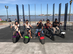 Friends riding Electric Cycles
