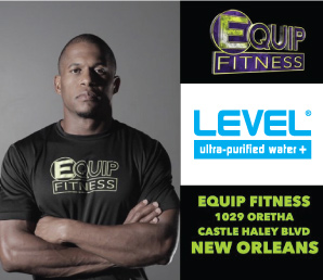Level Water at Equip Fitness