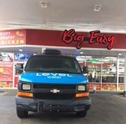 Level Water Van making deliveries