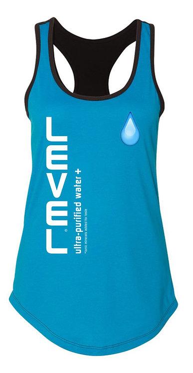 Level Water Drip Ladies Racerback Tee