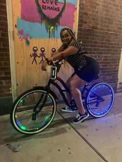 Bicycling at night