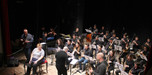 On stage wi th the Orchestra and Rachel Gould