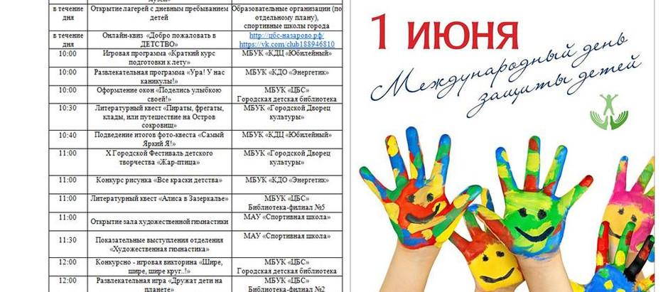 Город Назарово готовится к проведению Дня защиты детей.