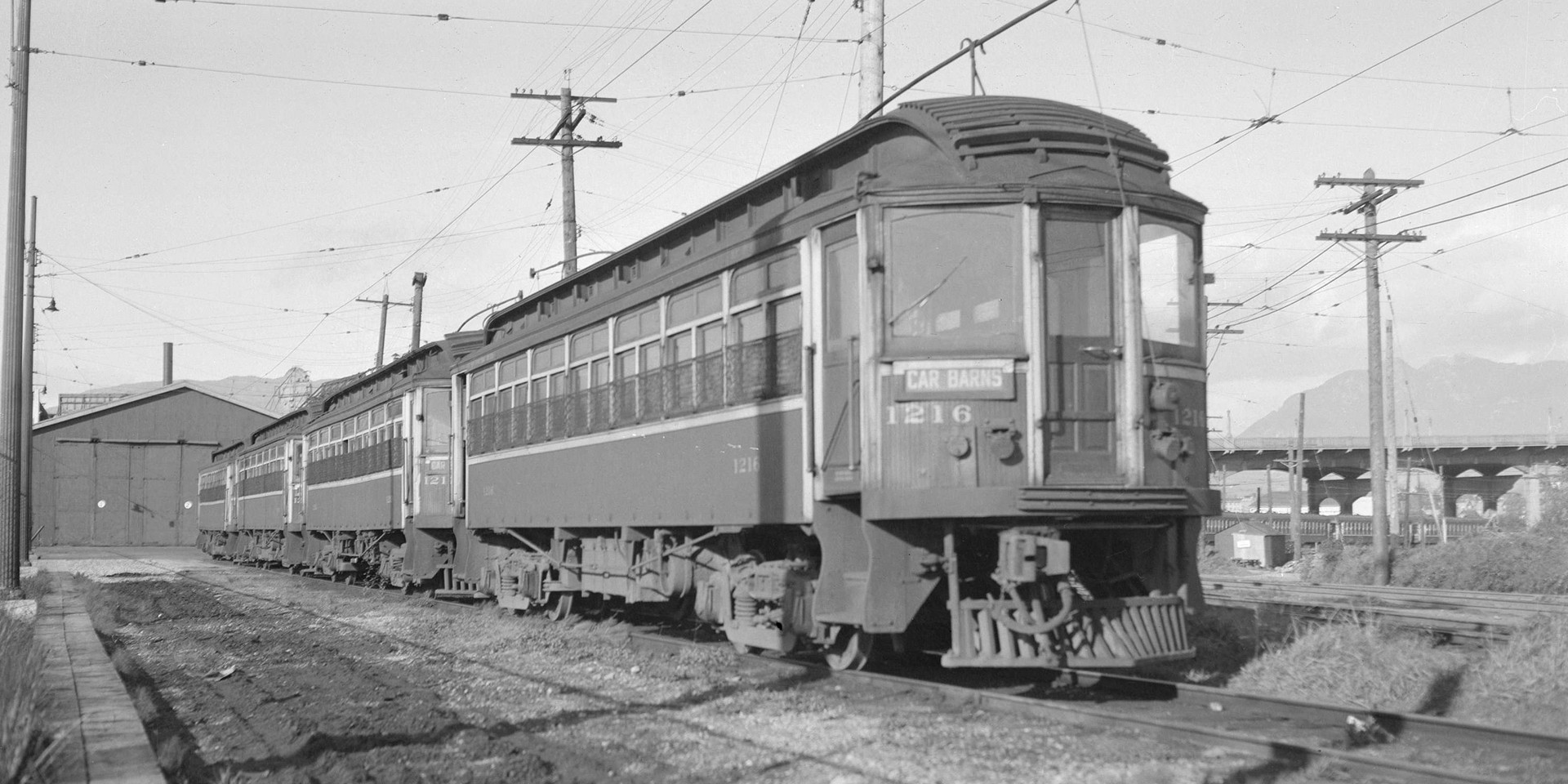 B.C. Electric Railway Interurban Car at Kitsilano car barns