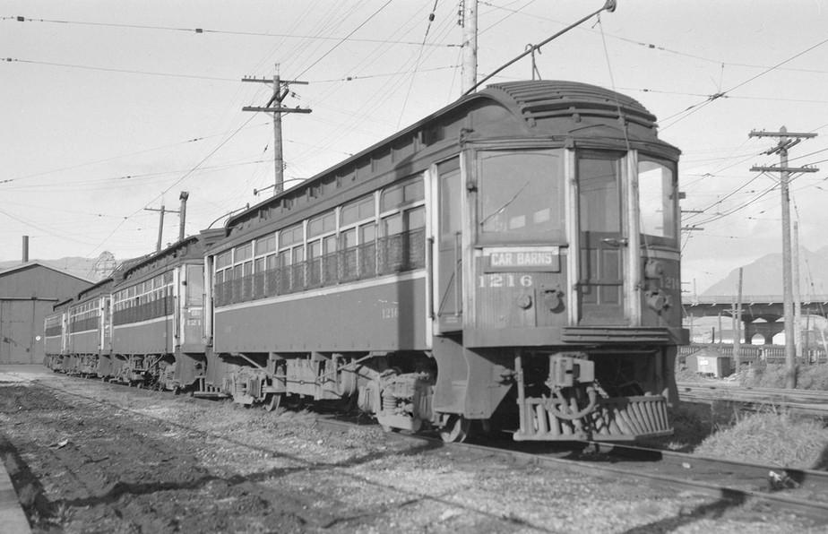 B.C. Electric Railway Interurban Car at Kitsilano car barns