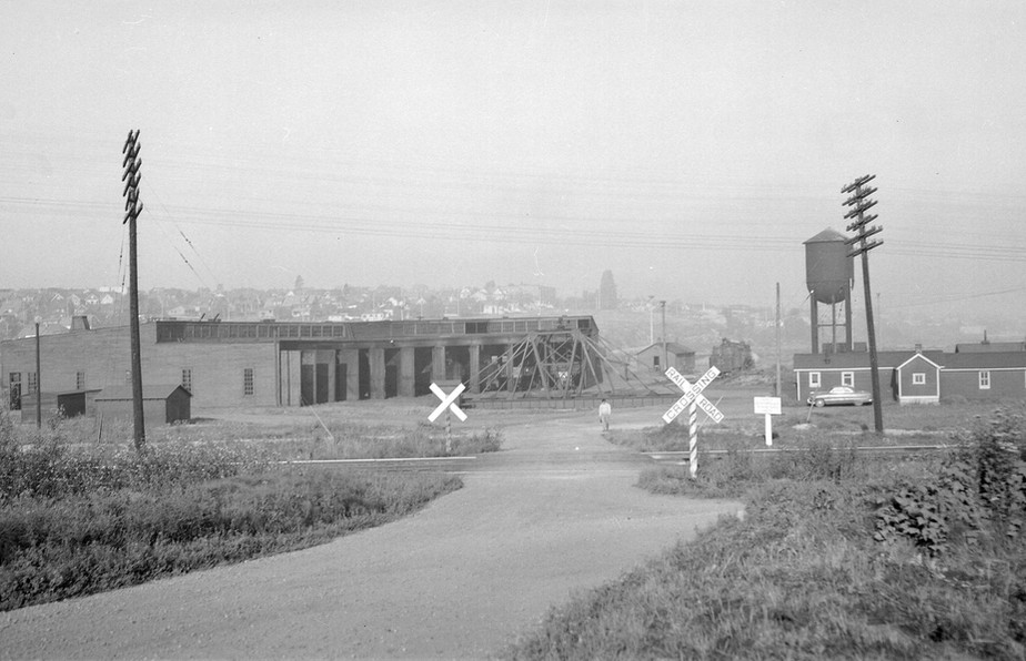 Great Northern Railway (GNR) Roundhouse at east end of False Creek Flats
