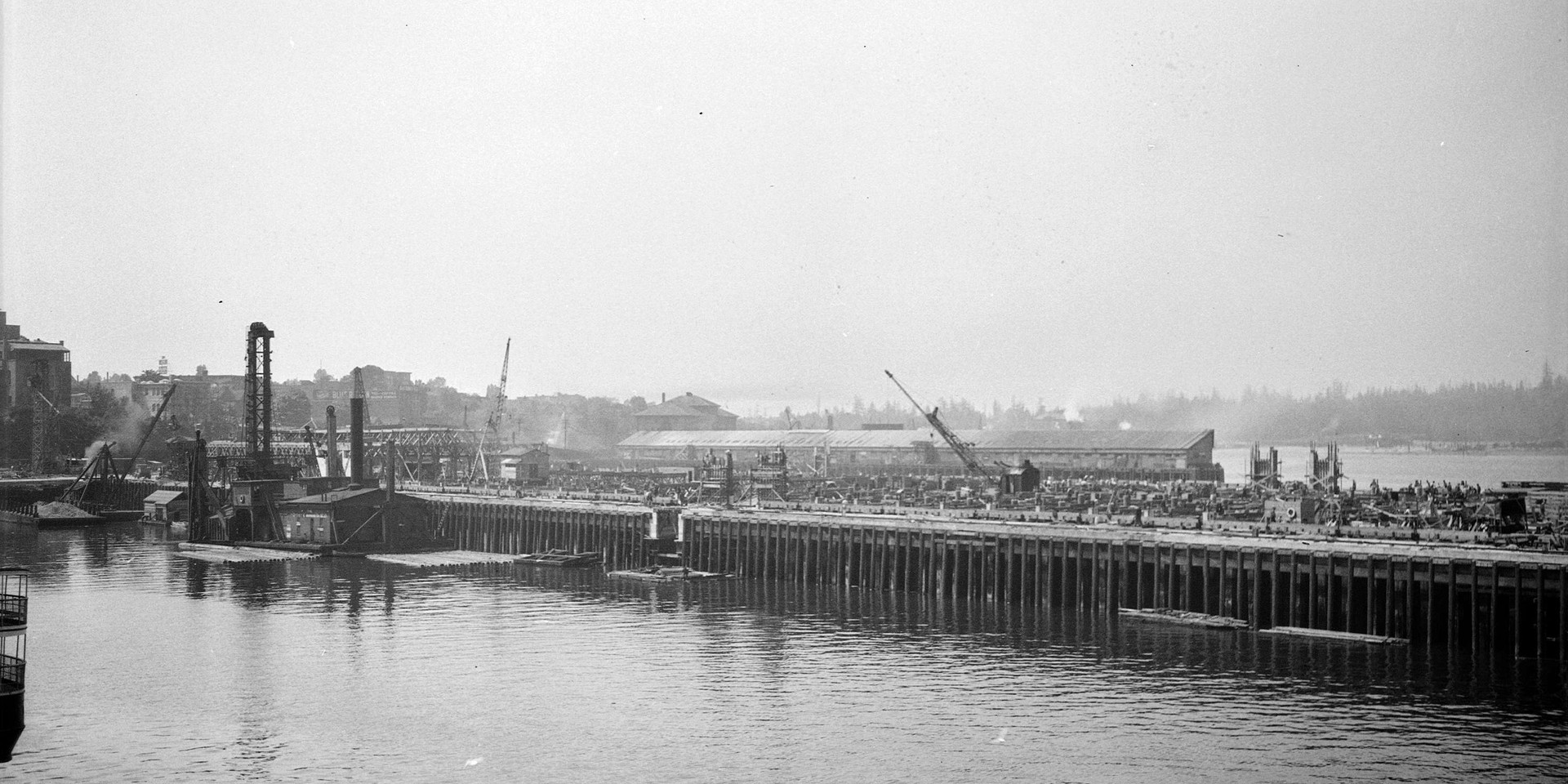 Construction of C.P.R. Pier B-C