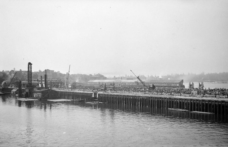 Construction of C.P.R. Pier B-C