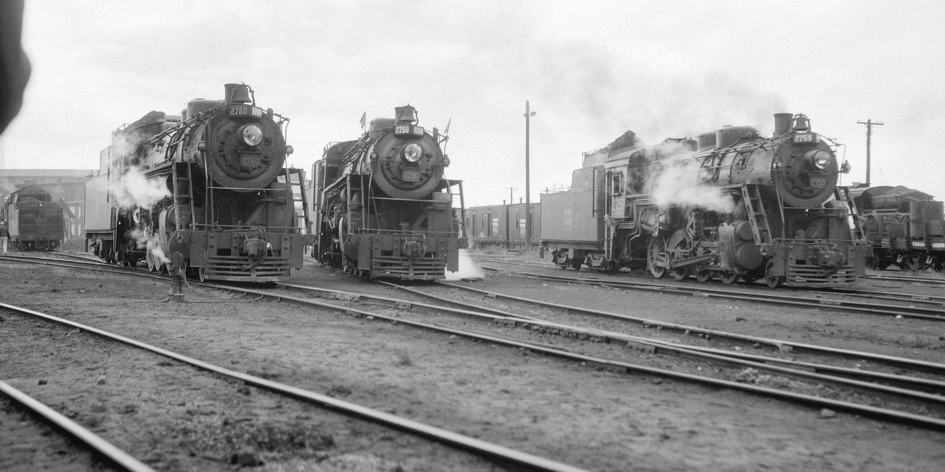 A trio of Canadian National Steam Locomotives