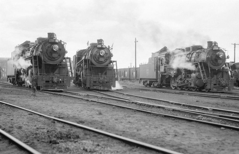 A trio of Canadian National Steam Locomotives