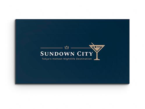 Sundown City Fridge Magnet