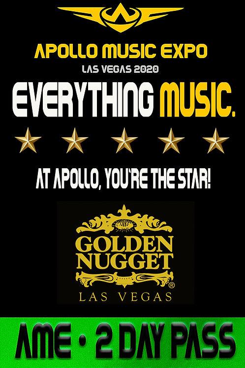 2 Day Pass to all Apollo Music Expo Exhibitors