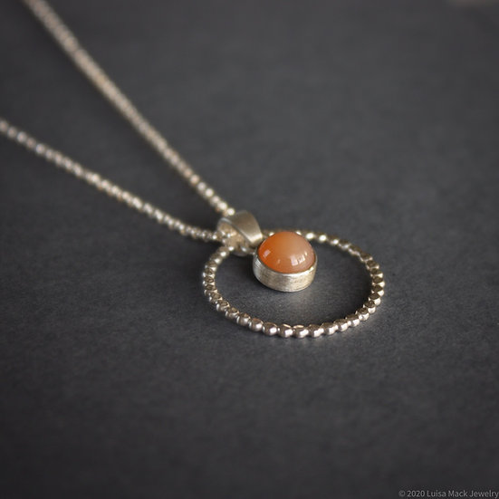 Moonstone Bubble Pendant