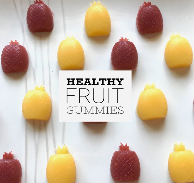 Healthy fruit gummies