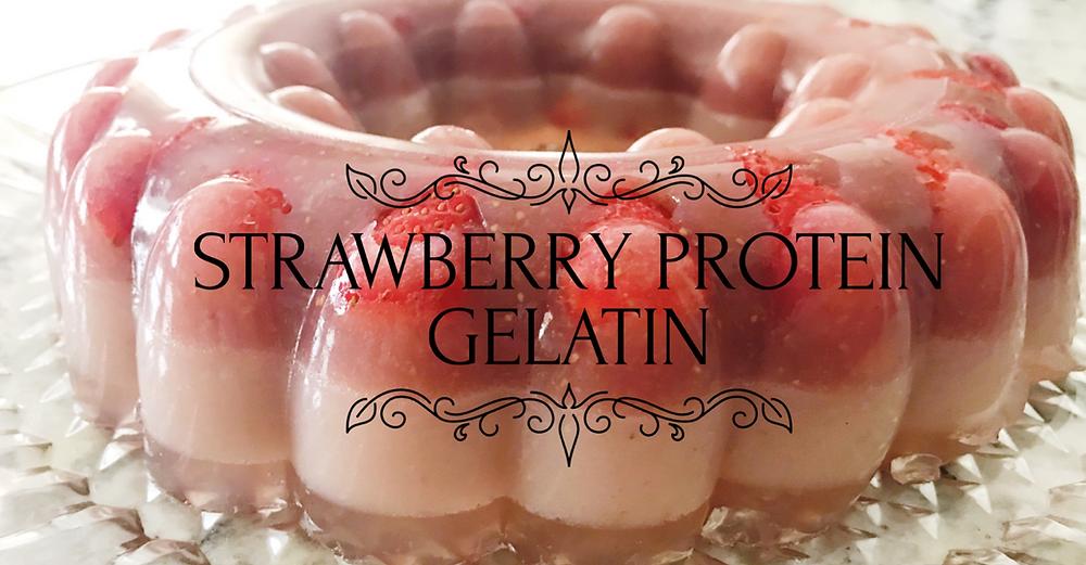 Strawberrie protein gelatin