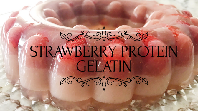Strawberries protein gelatin