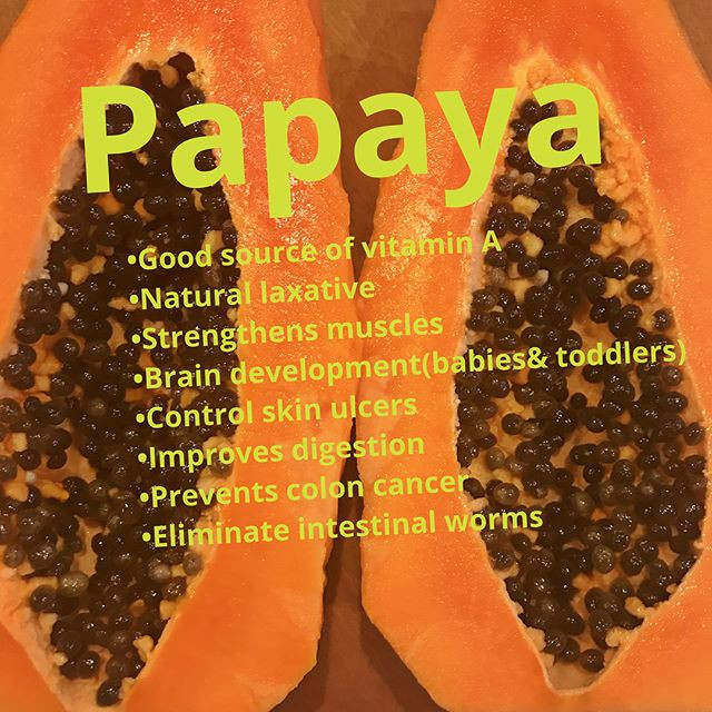 Healthy protein papaya smoothie