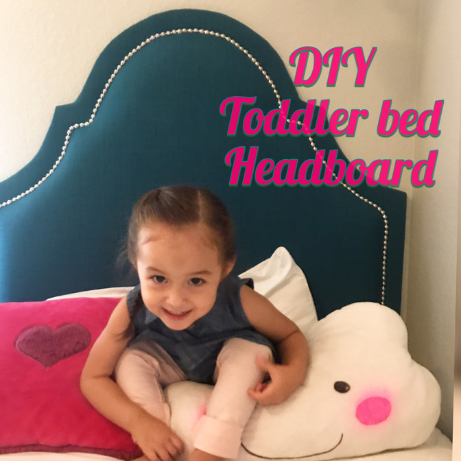 DIY toddler headboard