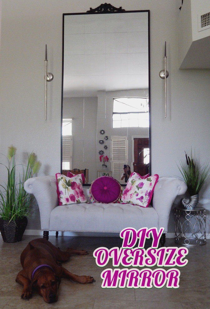 Oversize Mirror, yes! you can do it.