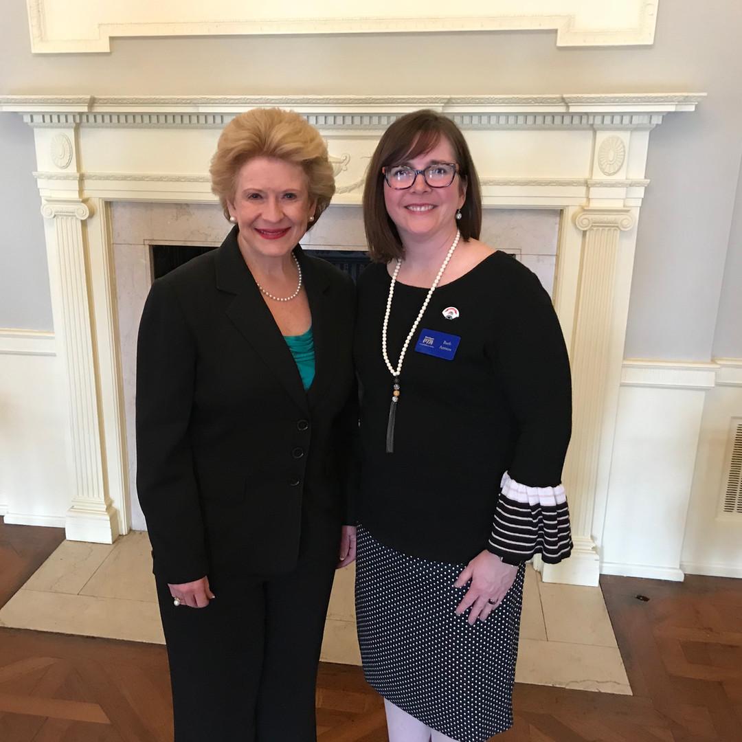 Barb and Senator Debbie Stabenow