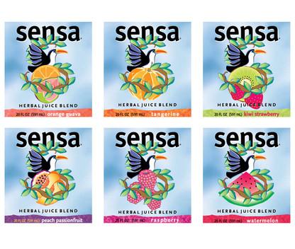 Sensa Juice labels