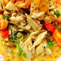 Seafood over Edamame Pasta.JPG