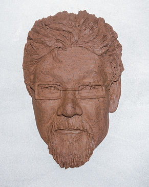 portrait, sculpture, relief