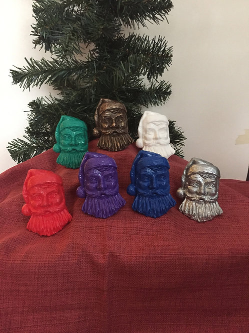Santa Colourful Ornaments
