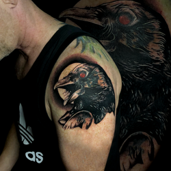 Crow And Moon Cover Up