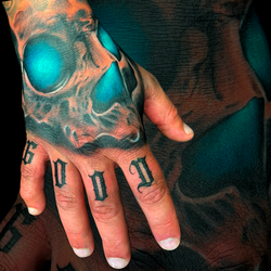 Skull Blue-Eyes On Hand