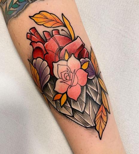 Flower Crystal Heart