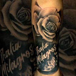 Thalia Milagros Footprint and Rose