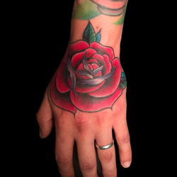 Red Rose hand