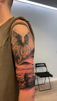Eagle with Landscape