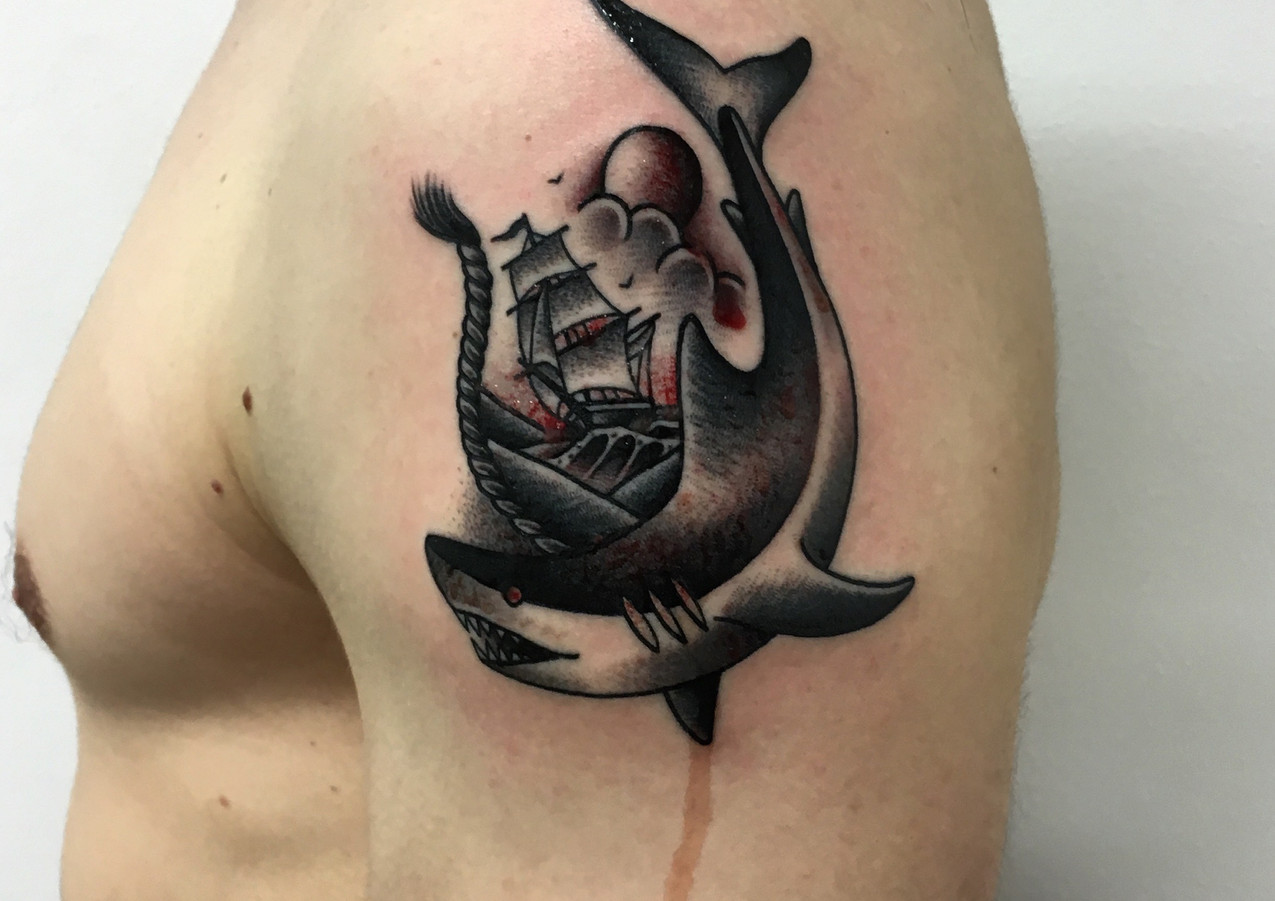 Shark & Sailing Ship