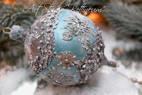 Ekskluzywna bombka Faberge Silver