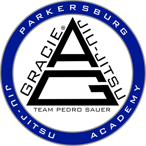 "12"" Parkersburg Jiu-Jitsu Academy sticker. Great for vehicles."