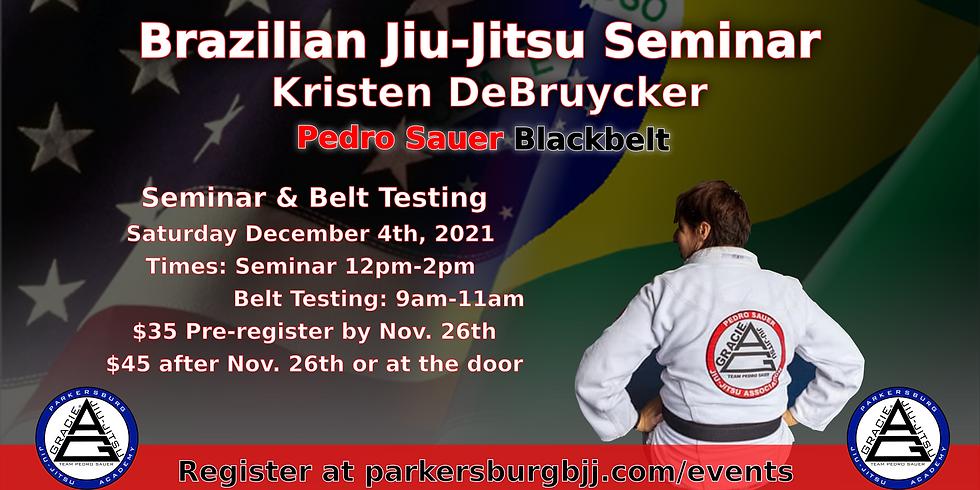 Kristen DeBruycker Jiu-Jitsu Seminar and Belt Testing