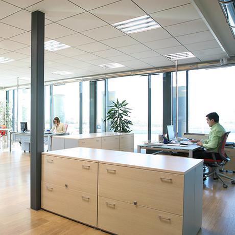 Vista parcial de oficinas