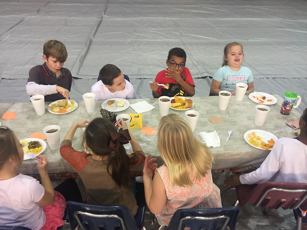 Today the 2nd grade and many other grades had a Thanksgiving Feast for lunch today.