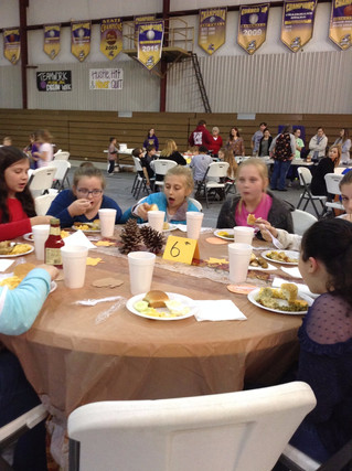 Thanksgiving lunch and Shoebox Chapel