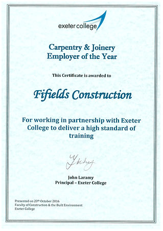 Exeter College Certificate.jpg