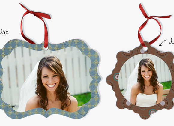 Double Sided Metal Shape Ornaments