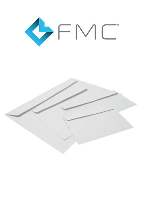 White DL Plain Machinable Envelope x 1000